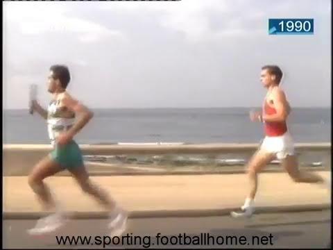 Atletismo :: Vitória do Sporting na Estafeta Cascais - Lisboa em 1990.