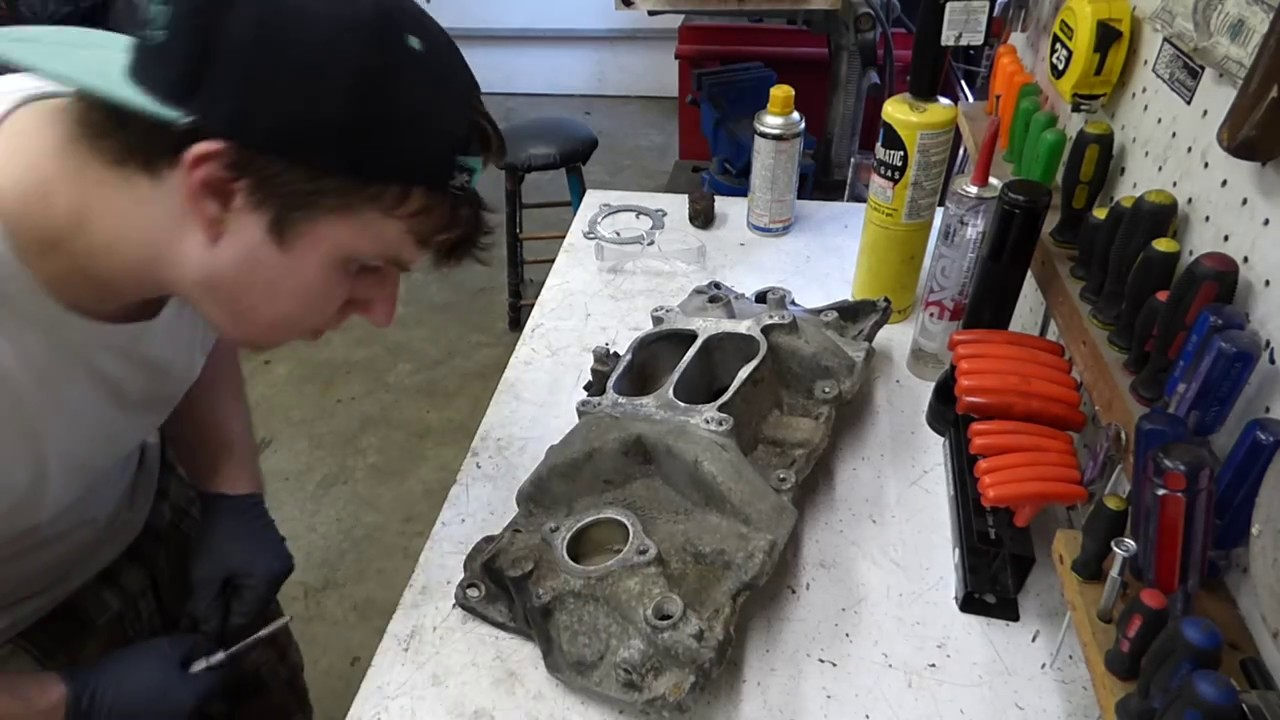 Cleaning up a chevy intake manifold
