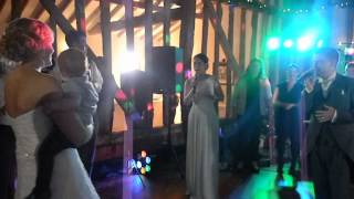 Groom surprises Bride with live rendition of Thinking Out Loud feat their wedding guests!