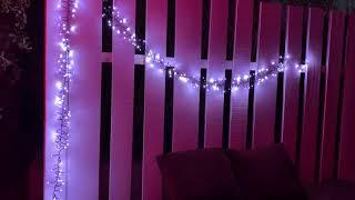 Guirlande lumineuse de Noël extérieure BOA longueur 4m, 310 LED blanches fixes et flash vidéo