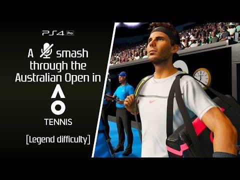 AO Tennis [PS4P] Full Australian Open [Legend difficulty]