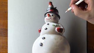 Drawing Porcelain Snowman