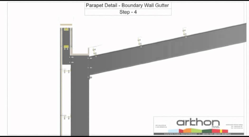 Arkhon Panel Parapet Detail Boundary Wall Gutter Youtube