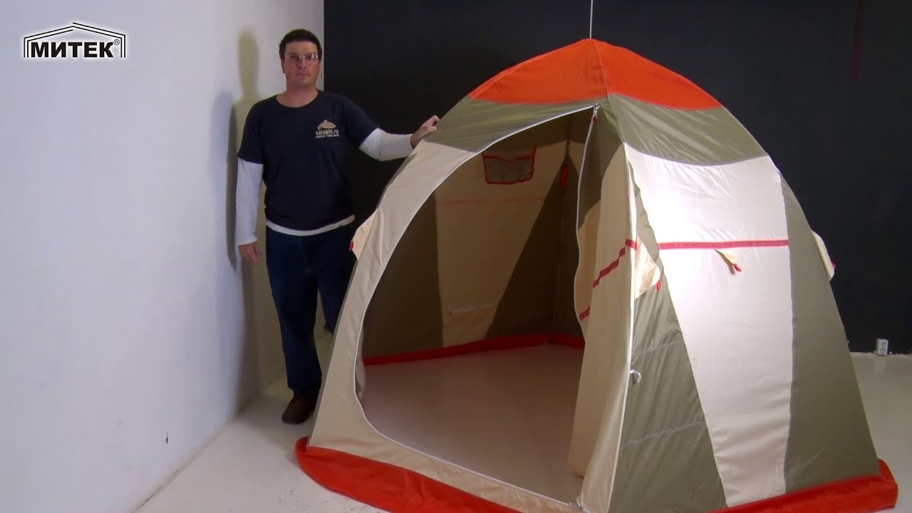 Палатка для зимней рыбалки Нельма 3 люкс от Митек [salapinru .