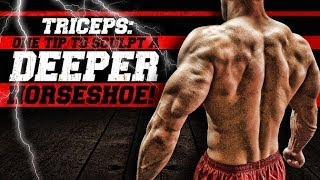 Triceps: One Tip To Sculpt A DEEPER Horseshoe!