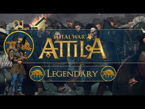 Let's Play Total War: Attila (Legendary) - Picts - Ep.01 - Besieging Eildon!