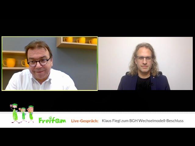 Live-Gespräch mit Klaus Fiegl (BGH Wechselmodell-Beschluss)
