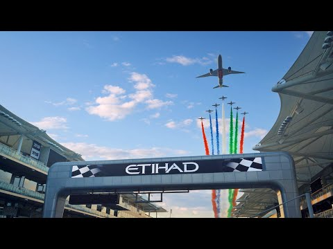 Spectacular Flyover at the 2020 Formula 1 Abu Dhabi GP with 787 Dreamliner | Etihad