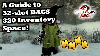How to get 32 sĮot bags in Guild Wars 2: 320 inventory space! - a GW2 Guide