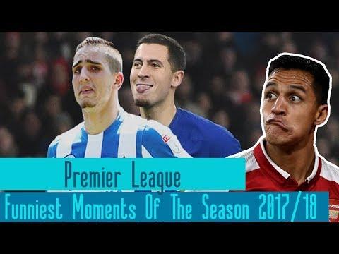 Premier league funny moments of the season 2017/18  [hd]