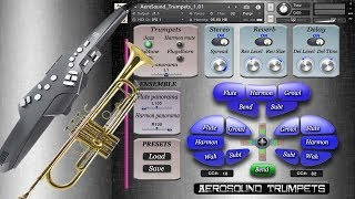 Aerophone AE-10 and AeroSound Trumpets Kontakt library, Wah and Growl effects