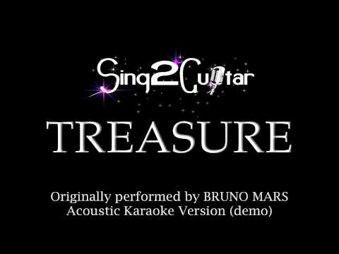 Treasure Acoustic Karaoke Version Bruno Mars