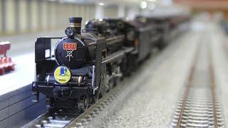 鉄道模型(Nゲージ):ポポンデッタ アリオ橋本 vol.16:C571・D51200重連+35系4000番台 SL「やまぐち」