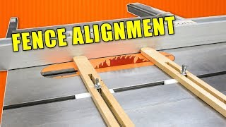 Table Saw Jigs to Align a Crappy Table Saw Fence / Table Saw Fence Alignment