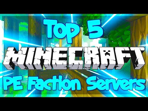 TOP 5 FACTIONS SERVERS MCPE 1.12+ 2019 [HD] (New Big Minecraft Servers)