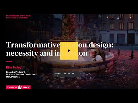 Extraordinary Webinar - Transformative motion design: necessity and invention