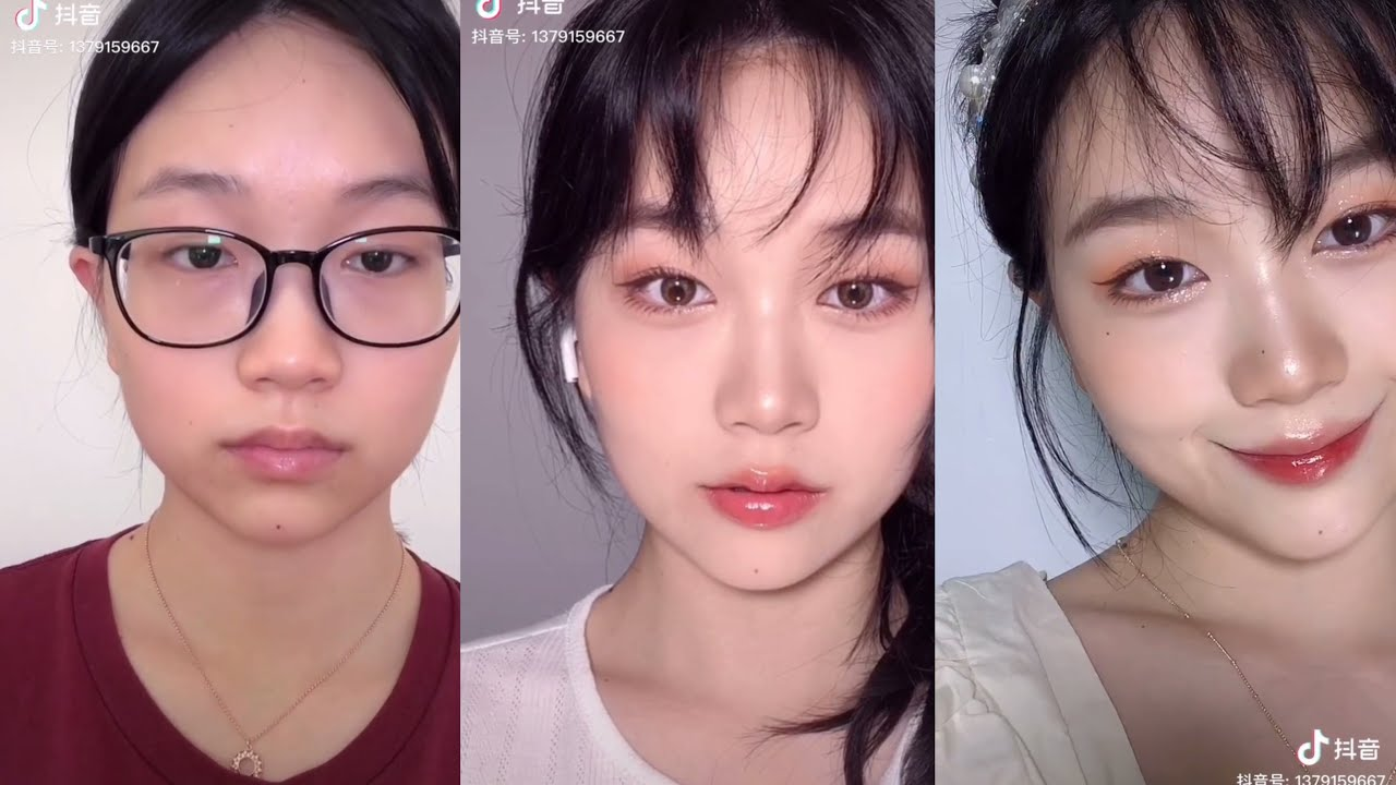 She changed in 1s OMG 😮😮 | DOUYIN | TIKTOK MAKEUP VIDEOS