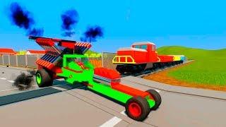 Unstoppable MASSIVE Lego Train Wrecks and Lego Regdoll - Brick Rigs Destruction