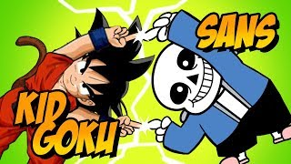 How to Draw Sans + Kid Goku Fusion | ART CHALLENGE