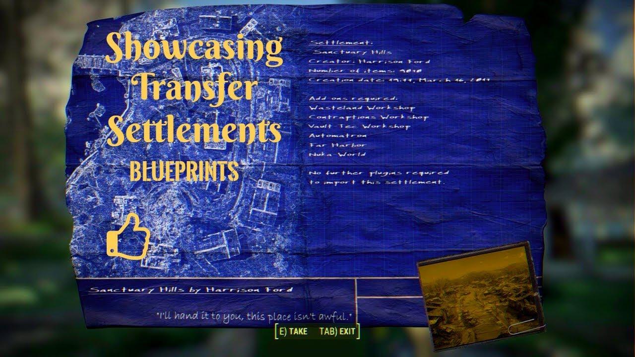 Fallout 4 transfer settlement blueprint sanctuary city settlement fallout 4 transfer settlement blueprint sanctuary city settlement blueprint malvernweather Gallery