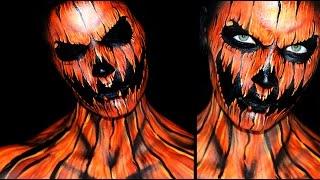 pumpkin makeup tutorial 31 days of halloween