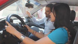 تعلم سياقة السيارة 2016 بالصوت والصورة شرح علبة السرعة و دواسات البنزين والفرامل واللومبرياج