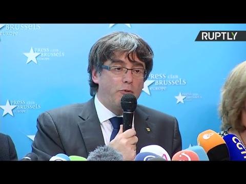 Conférence de presse de Carles Puigdemont à Bruxelles