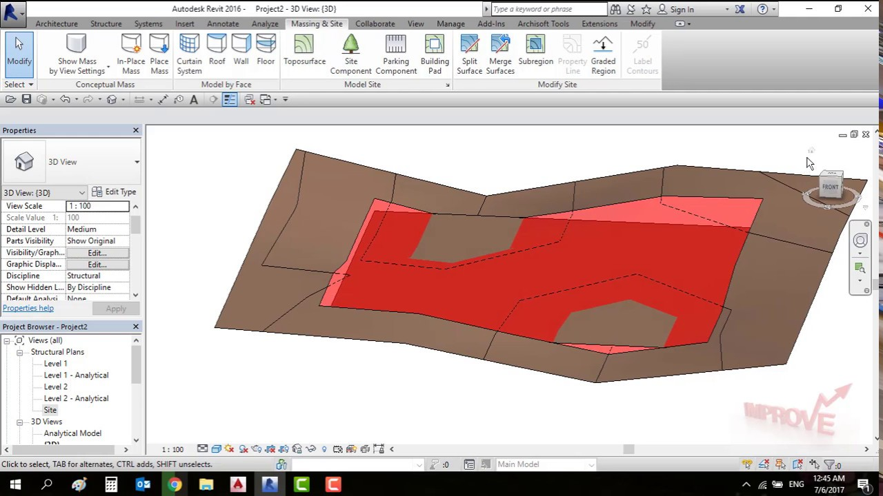 how to cut and fill revit