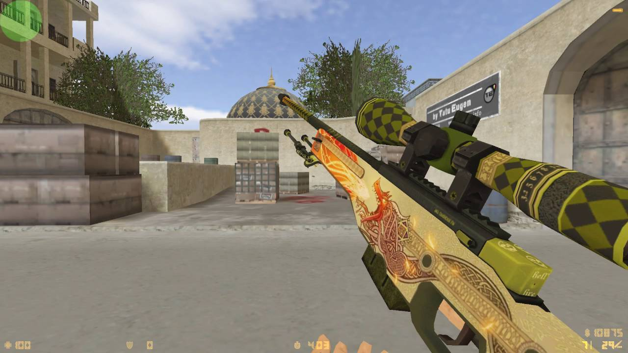 AWP Dragon Lore for CS 1 6 (HD skin + inspect animation)