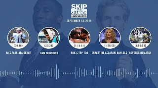 UNDISPUTED Audio Podcast (9.13.19) with Skip Bayless, Shannon Sharpe & Jenny Taft | UNDISPUTED