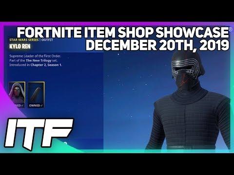 Fortnite Item Shop *NEW* KYLO REN SKIN AND MORE! [December 20th, 2019] (Fortnite Battle Royale)