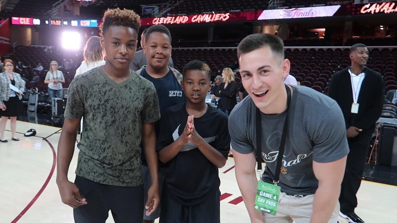 MEETING LEBRON JAMES JR AT THE NBA FINALS! - YouTube