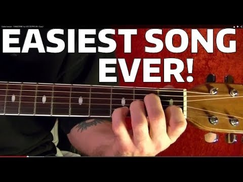 EASIEST SONG EVER GUITAR LESSON!!