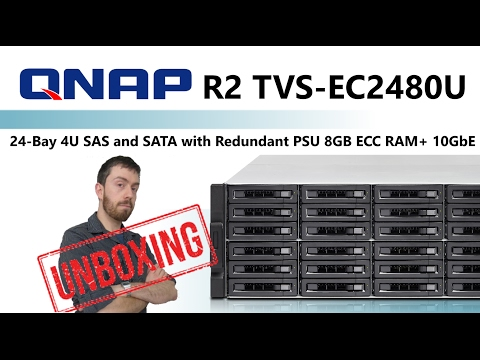 The Qnap NAS R2 TVS-EC2480U 24-Bay 4U SAS and SATA  Redundant PSU 8GB ECC RAM+ 10GbE