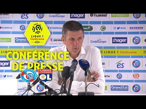 Conférence de presse RC Strasbourg Alsace - Olympique Lyonnais ( 3-2 )  / 2017-18
