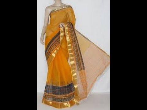 latest designer kota doria sarees with price/fashion9tv