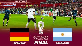 Germany vs Argentina Final FIFA World Cup 2022 Full Match All Goals PES 2021 eFootball