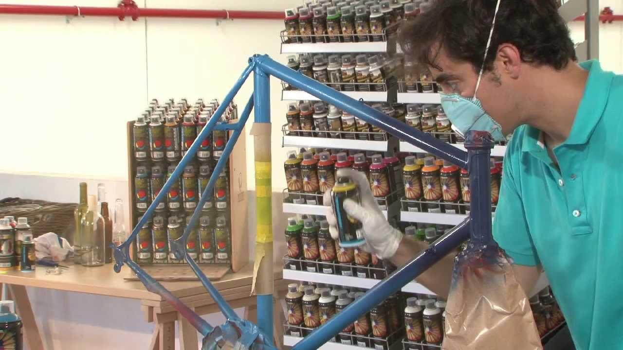 Tutorial - Cómo pintar un cuadro de una bicicleta con spray paso a ...