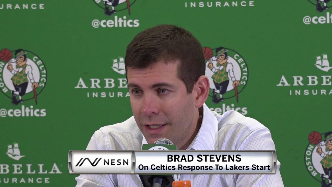 Brad Stevens On Celtics Win vs. Lakers, Jaylen Brown Dunk On LeBron James