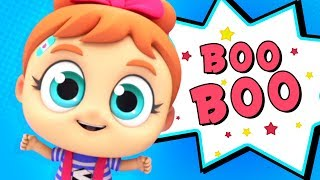 Boo Boo Song | Cartoon Nursery Rhymes and Baby Songs | Rhymes For Kids