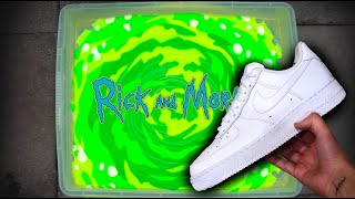 'Rick and Morty' HYDRO DIP AIR FORCE 1 CUSTOM!