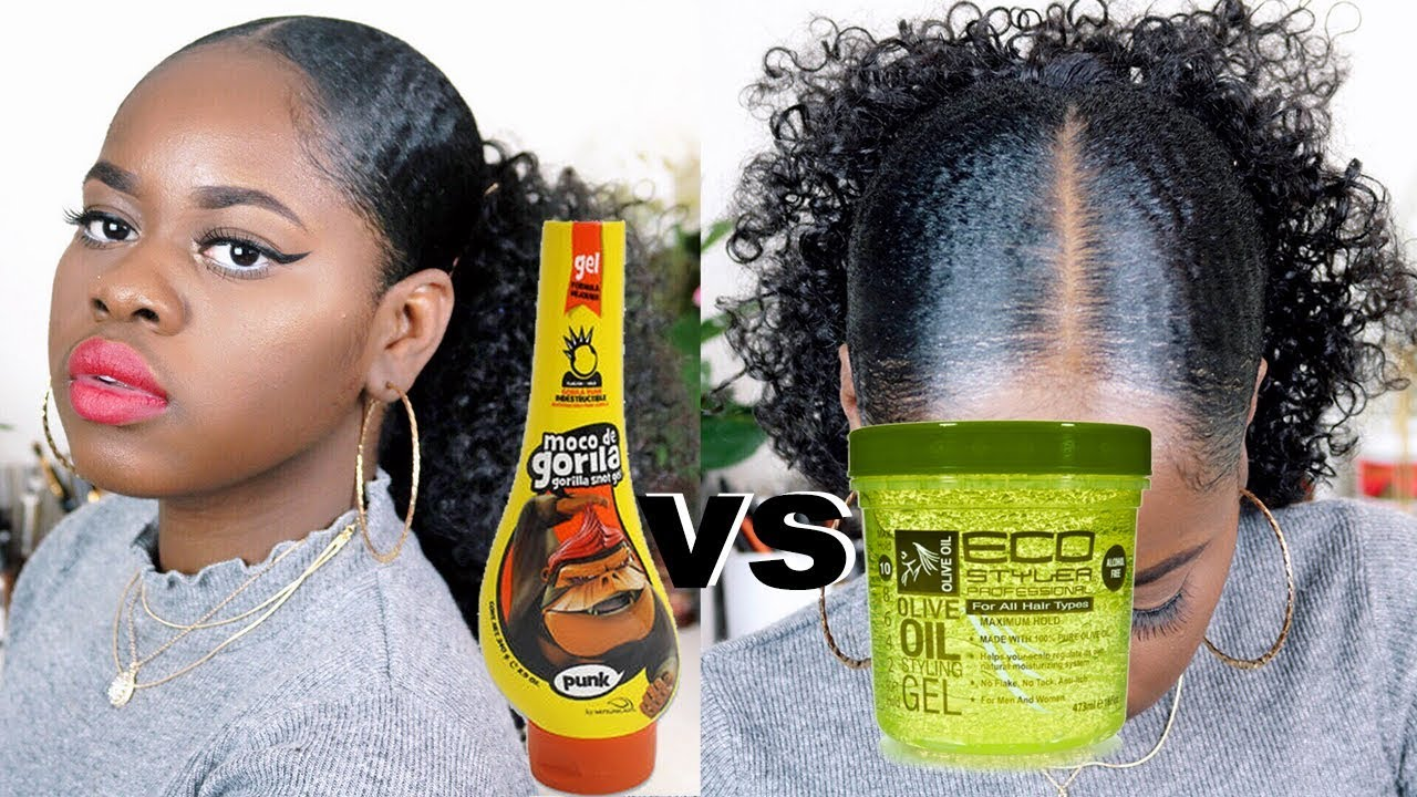 style your hair without gel gorilla snot vs eco styler gel on hair 3248