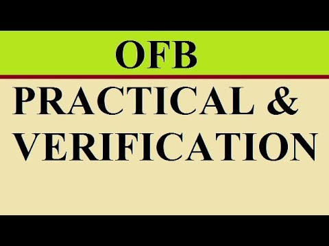 Ordnance factory practical Exam and verification