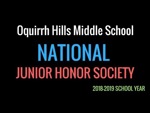 Oquirrh Hills Middle School, National Junior Honor Society