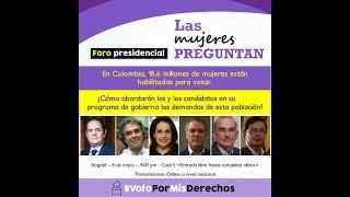 LAS MUJERES PREGUNTAN DEBATE PRESIDENCIAL COLOMBIA 2018. En Movimiento.