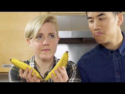 """""""Banana Pancakes"""" played with pancake ingredients."""