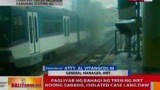 BT: Pagliyab ng bagahi ng tren ng MRT noong Sabado, isolated case lang daw