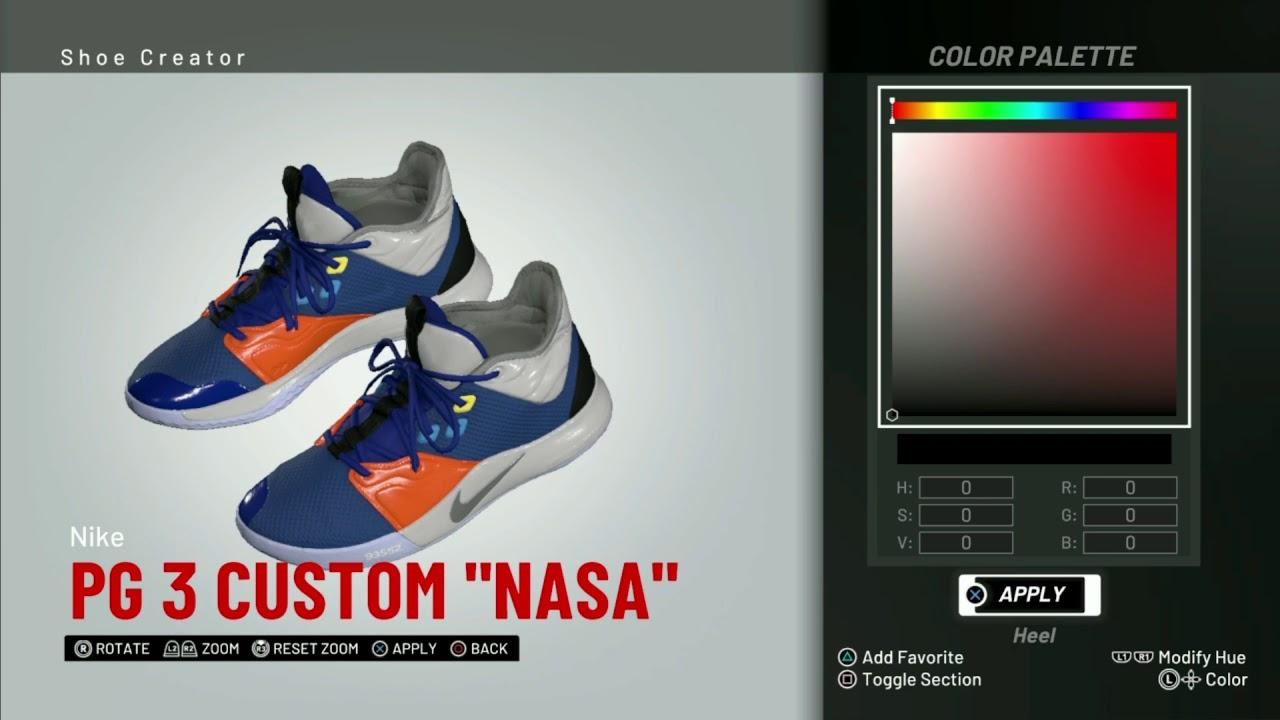 NBA 2K19 Shoe Creator | Nike PG 3