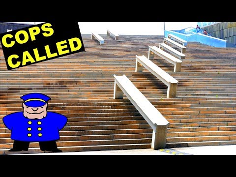 WORLD'S BIGGEST STAIR SET ON SCOOTER!
