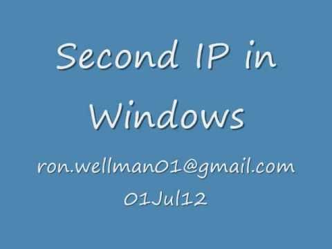 how to change ip address in windows 8 youtube